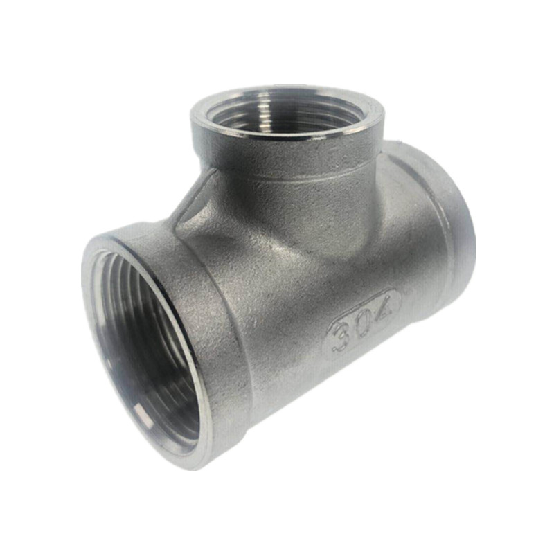 304 Type T Three Way Reducer Stainless Steel Female Jointer Pipe Connection Connector Fittings