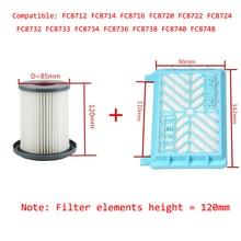 2 Stuks Stofzuiger Accessoires Hepa Filters + 12 Cm Filter Element Voor Philips FC8712 FC8714 FC8716 FC8720 FC8722 Hepa filter