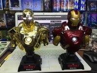 Avengers:Infinity War Anime Iron Man Ironman Bust MK7 Light 1/4 Superhero PVC Action Figure Collection Model Toys