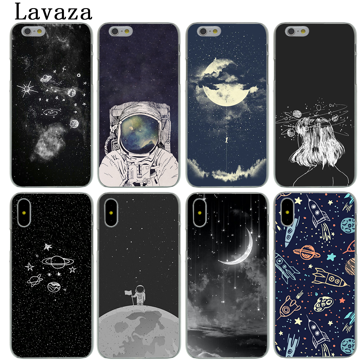 Lavaza Space Love Sun And Moon Star Drawing Hard Phone Case For Apple IPhone X XS Max XR 6 6S 7