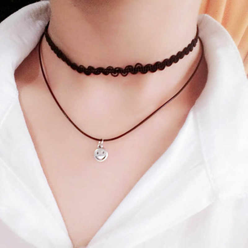 Gros nouveaux Styles amour Vintage Triangle géométrie tatouage goutte d'eau clavicule collier ras du cou pour femmes chaîne bijoux