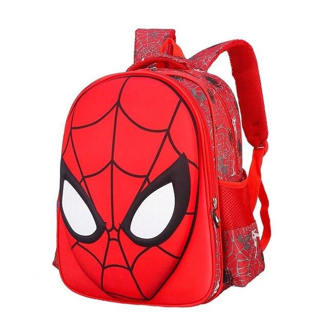 New cartoon spiderman schoolbag cool school bag for boys students waterproof backpack kids book bags large capacity child gift