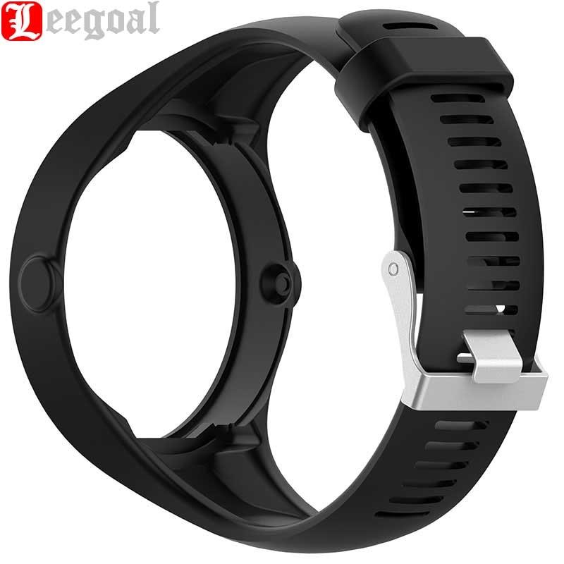 Leegoal Silicone Watchband for Polar M200 GPS Smartwatch Wristband Bracelet Watch Band for Polar M200 Sport Watch Silicone Strap