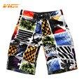 VICVIK Marca Mens Tabla Corta Stretch Cintura de trajes de Baño Masculinos Cortocircuitos de la Marca de Ropa para el Verano de Color Más Agradable