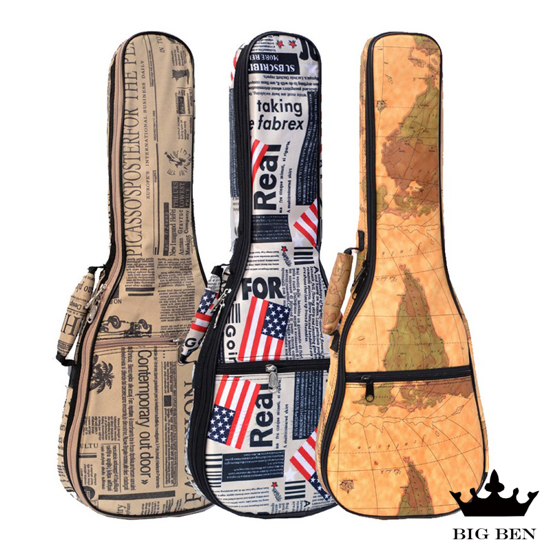 Freight free oxford fabric thickening durable development backpack 21 inch 23 inch 26 inch Ukulele PU bag Small Hawaiian bag 12mm waterproof soprano concert ukulele bag case backpack 23 24 26 inch ukelele beige mini guitar accessories gig pu leather