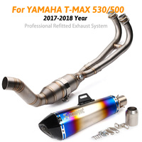 TMAX 530/500 2017 2018 motorcycle muffler exhaust pipe akrapovic escape moto with db killer for yamaha TMAX 530 T max 500