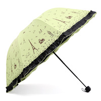 Sunshade Umbrella Parasol Folding Umbrella Personality Flower With Water Novelty And Fashion Anti UV S2YS0017