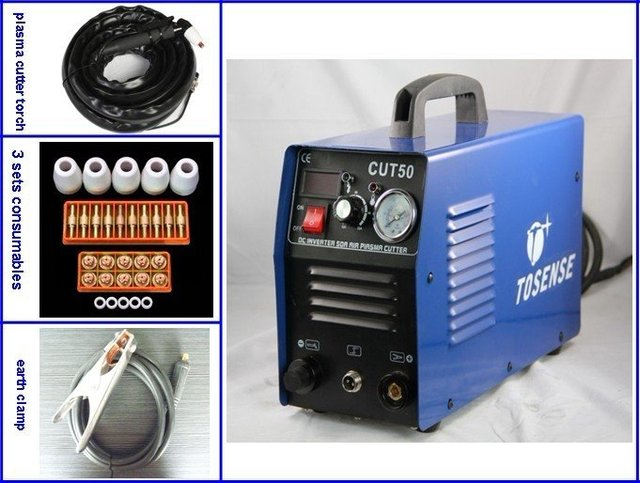 220V 60 Duty Cycle Air Plasma Cutter CUT 50 All Free With 35 PCS