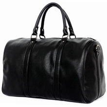 f1ac7e0ceedf 2018 Famous Brand Men Travel Bags Large Capacity Black Luggage Travel  Duffle Bags Leather Hand Tote