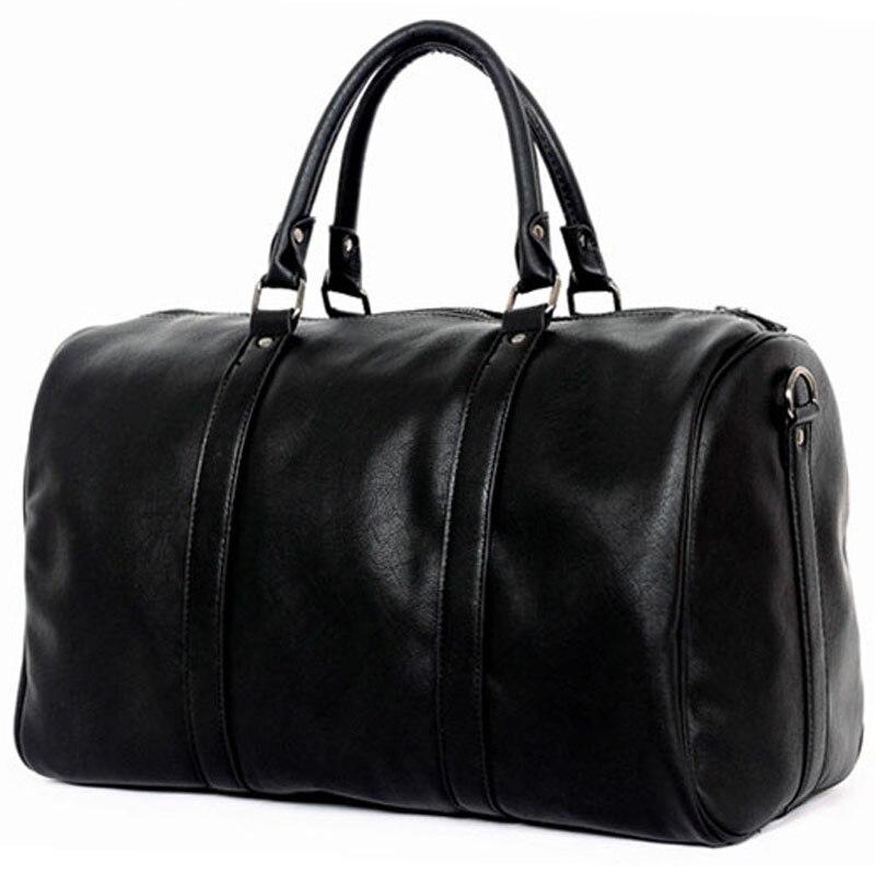 2018 Berühmte Marke Männer Reisetaschen Große Kapazität Schwarz Gepäck Reise Duffle Taschen Leder Hand Tote Männer Tasche Für Reise Männlichen P070 Kaufen Sie Immer Gut