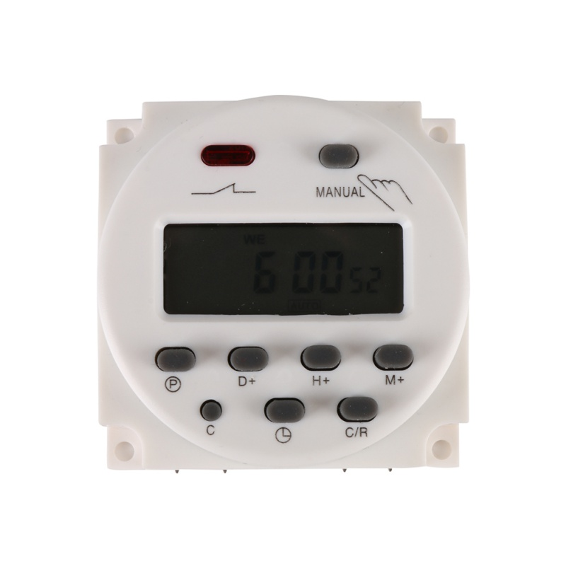 цена на DC 12V/220V Digital LCD Power Timer weekly 7days Programmable Time Switch Relay 8A TO 16A TIMER 10A mini
