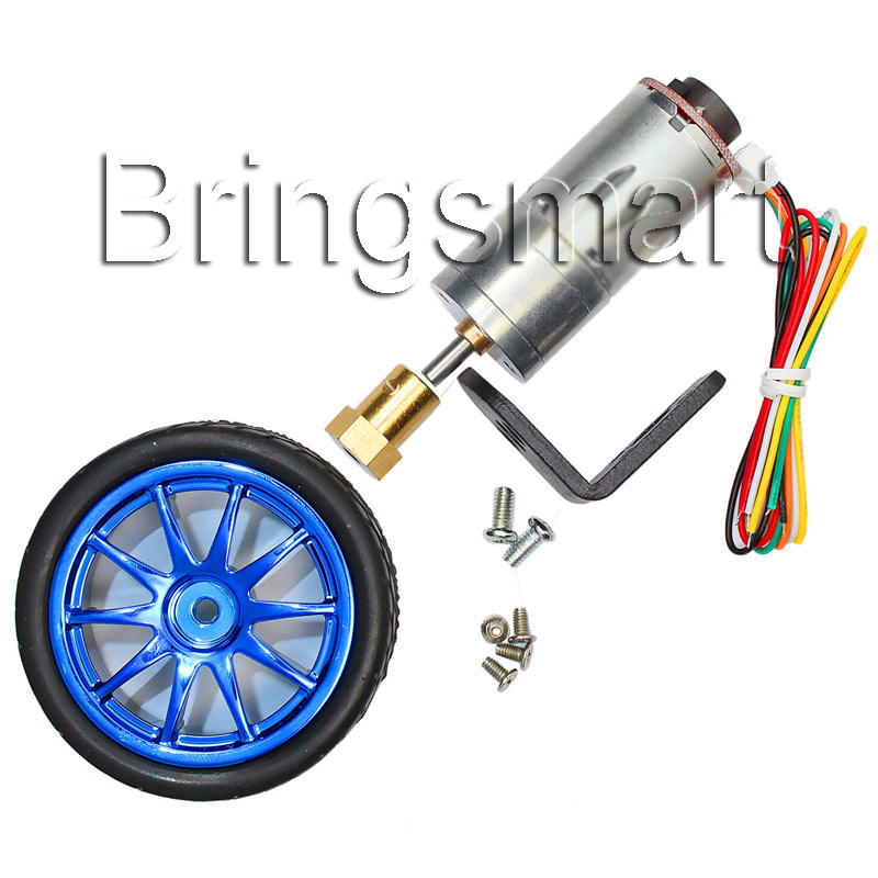 Bringsmart JGA25-371 <font><b>Motor</b></font> Set DC <font><b>12v</b></font> Hall <font><b>Encoder</b></font> 18-1930rpm Mini Engine Gearbox Micro Electric <font><b>Motor</b></font> for DIY Robot <font><b>Gear</b></font> <font><b>Motor</b></font> image
