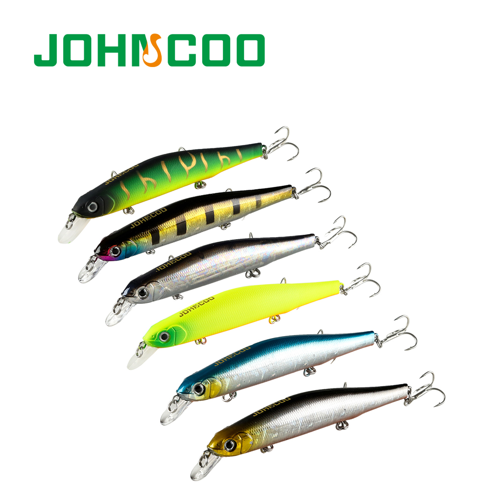 Johncoo Orbit Minnow Fishing Lure 110 Fishing Wobbler 110mm 17.6g Slowly Sinking Minnow Pike Bass Artificial Fishing Lures