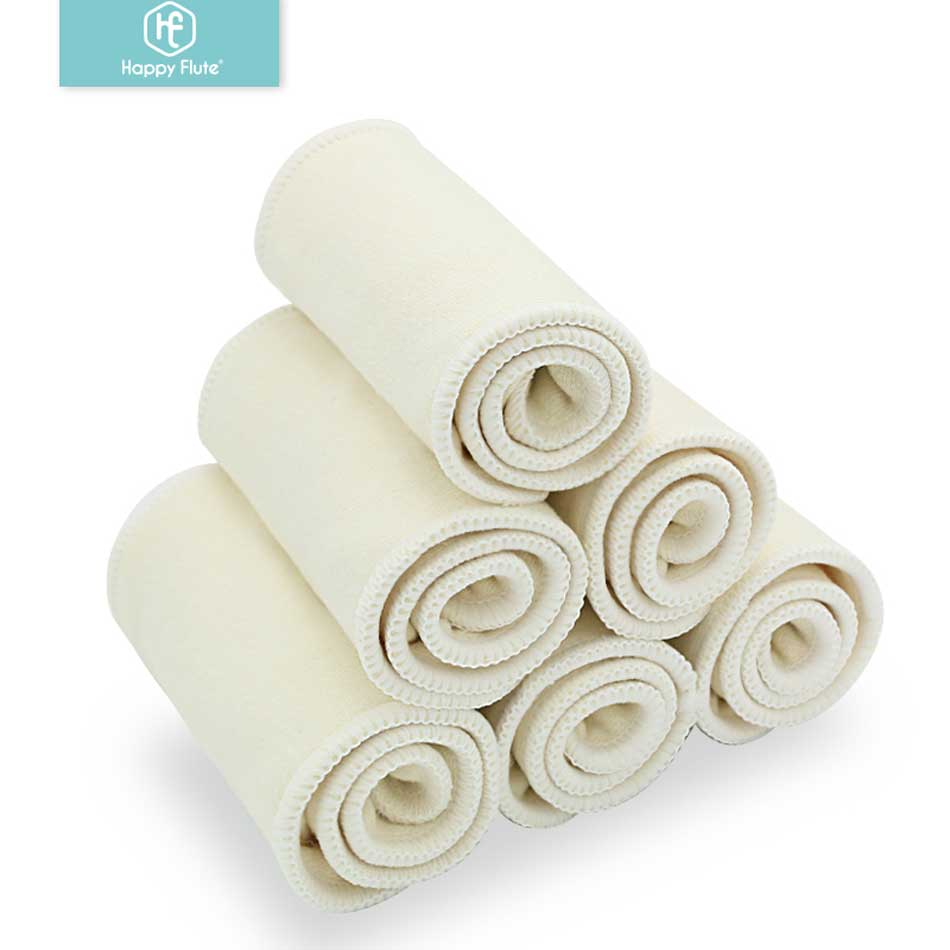 Happy Flute  10pieces/lot 3 Layers Hemp  Diaper Nappies