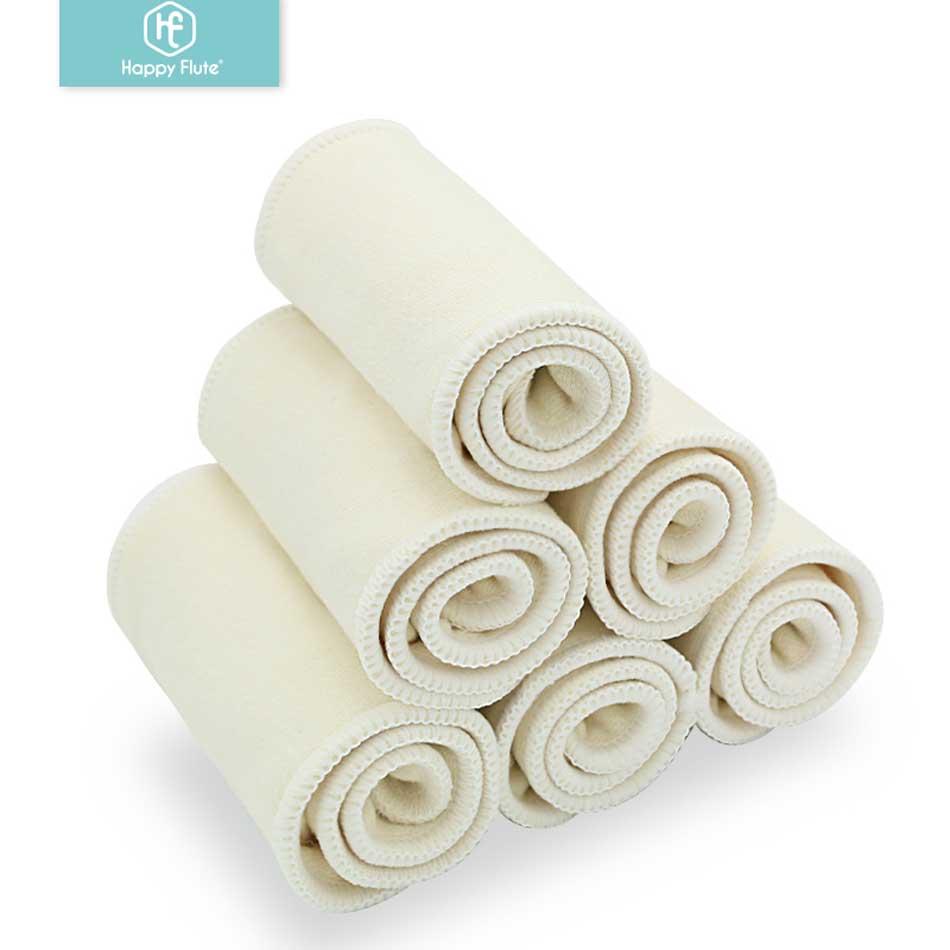Happy Flute  10pieces/lot 3 layers hemp  diaper nappies