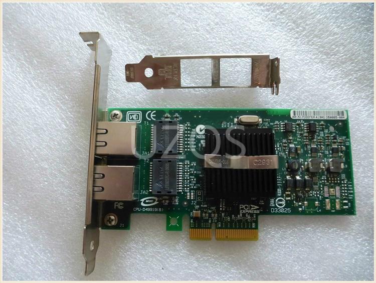 Оригинальный разбирать для Intel Pro 1000pt Dual-port PCI-E гигабитный серверный сетевой карты 9402PT 82571