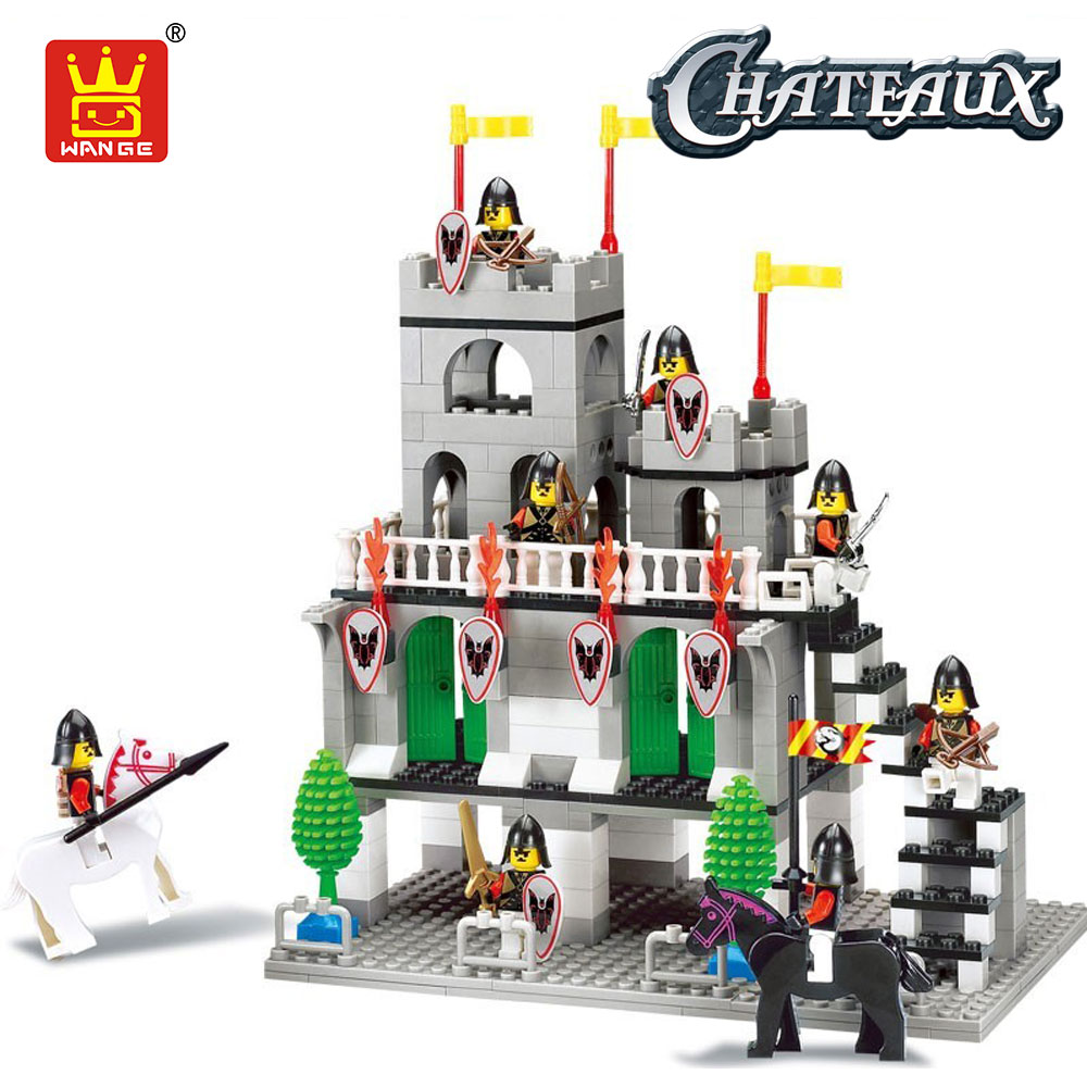 WANGE Medieval Castle Knights Building Blocks Model Bricks Toys Compatible with Plastic Assembly Toys for Children Kids DIY Toy тушь maybelline тушь для ресниц volume express подкручивающая черная maybelline
