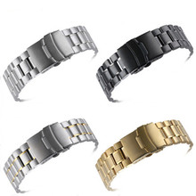 Manufacturer directly sells solid arc stainless steel watch strap mens high-grade fine with Chain Watch accessories