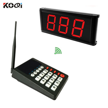 Restaurant paging system kitchen call waiter wireless queue service equipment K-999 keyboard transmitter K-403 screen receiver