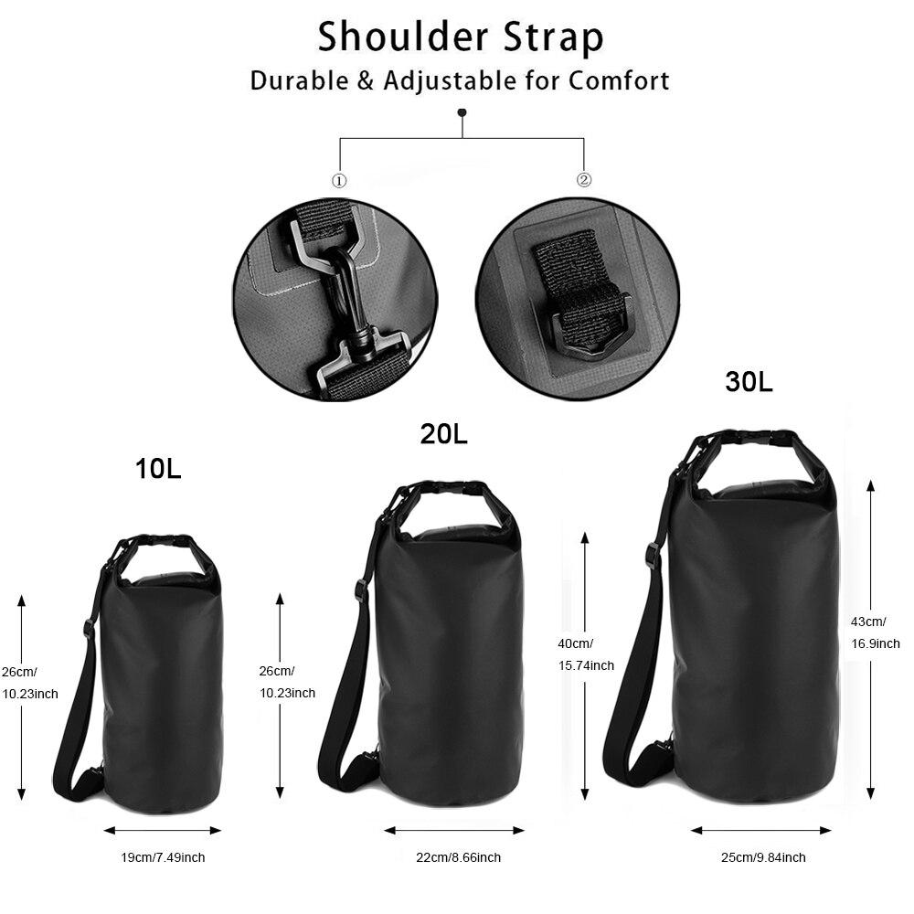 Swimming Travel Kits 30L Motorcycle Outdoor PVC Dry Sack Bag Waterproof Diving