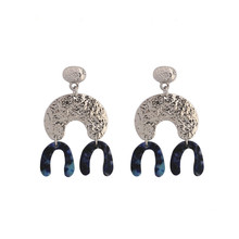 New fashion antique silver big dangle pendientes largos plata bohemian vintage jewelry chandelier earrings