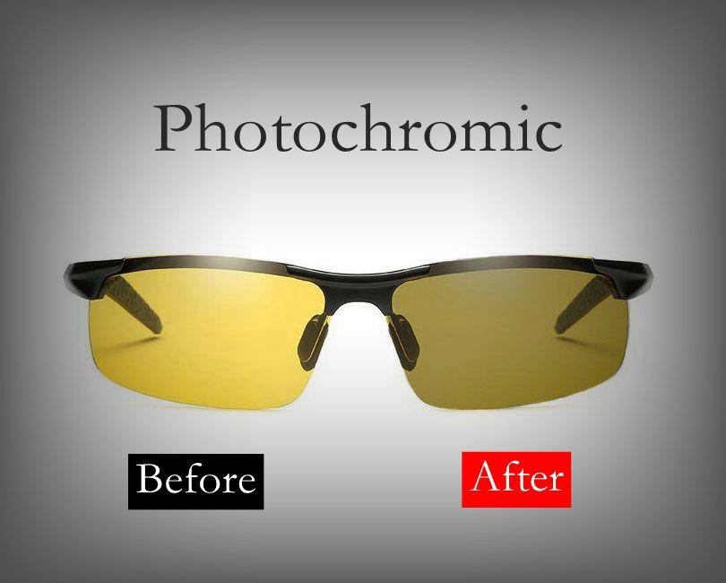 8da845b2c4 Gafas de sol polarizadas fotocrómicas sin montura conductor Rider visión  nocturna gafas camaleón cambio de color gafas hombres mujeres 8177