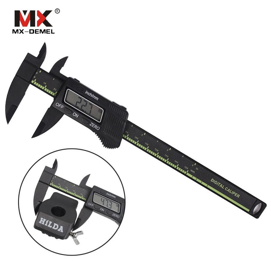 MX-DEMEL Präzision 150mm Vernier Digitale Edelstahl-digital-schieber Ruler Mikrometer Elektronische LCD Calibre Schiebe Gauge Messung Verni Werkzeuge