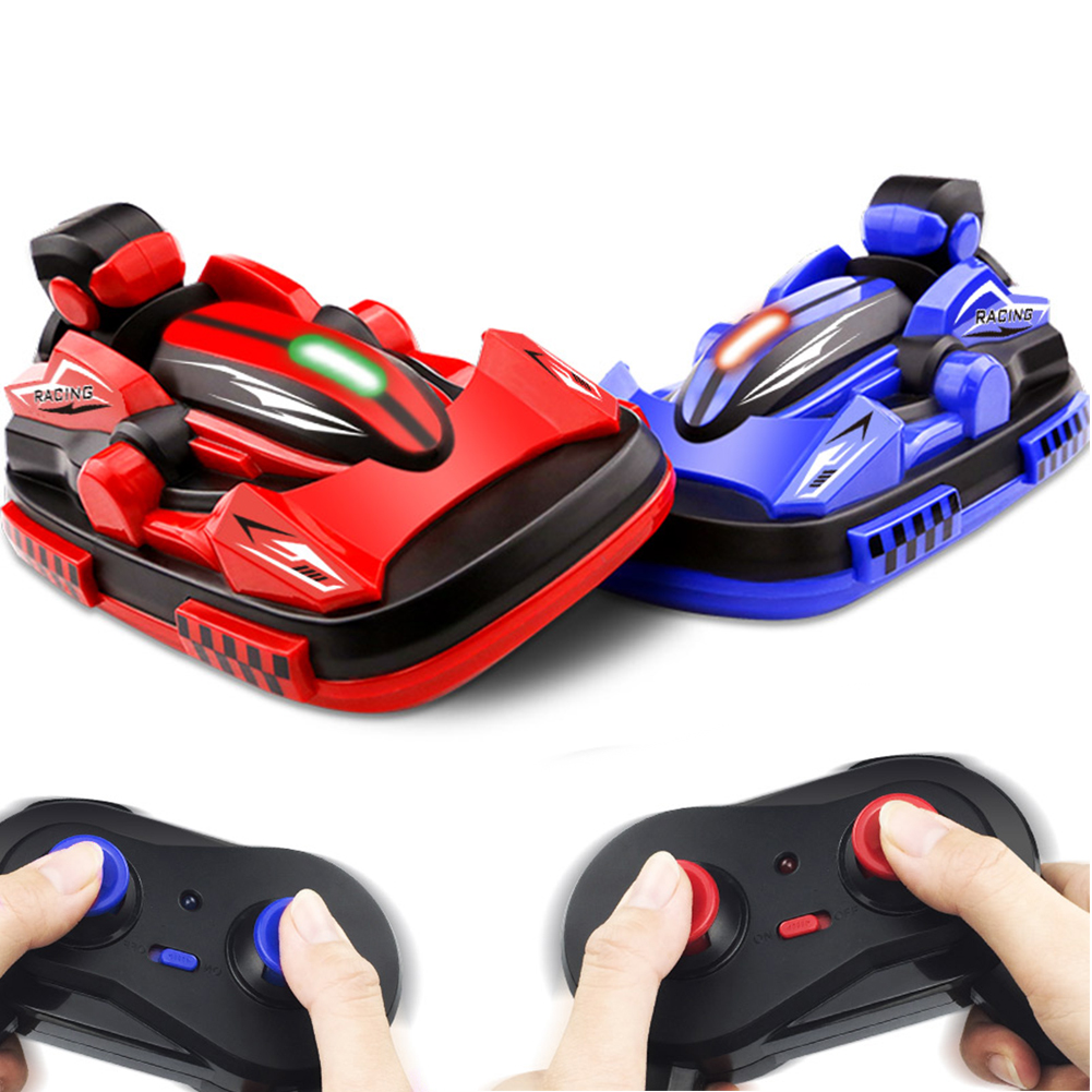 2Pcs W100 RC Bumper Cars Remote Control Stunt Battle Racing Vehicles Kids Toys new hot two model rc car electronics bumper cars fancy battle remote control toys gifts for children