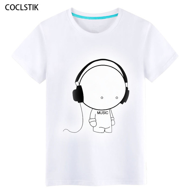 4ce8d6765 100% Cotton Childrens/Men's Summer Anime White Music Boy T Shirt Streetwear  Male Tshirts Personality Fitness T-shirts Tops S-5XL