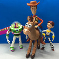 4 pçs/set Anime Toy Story 3 Buzz Lightyear Woody Jessie PVC Action Figure Collectible Modelo Toy Presentes Crianças 14.5-18 cm