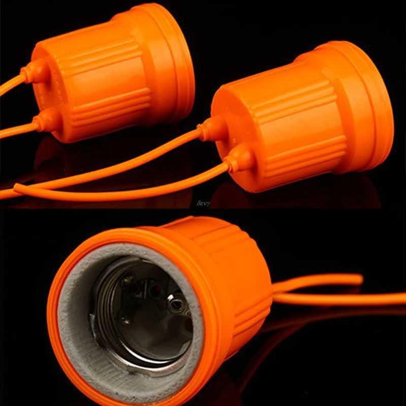 E27 Ceramic Waterproof Holder Base Screw Light Bulb Lamp Socket Flame Retardant Durable Material Safe Non Electric leakage