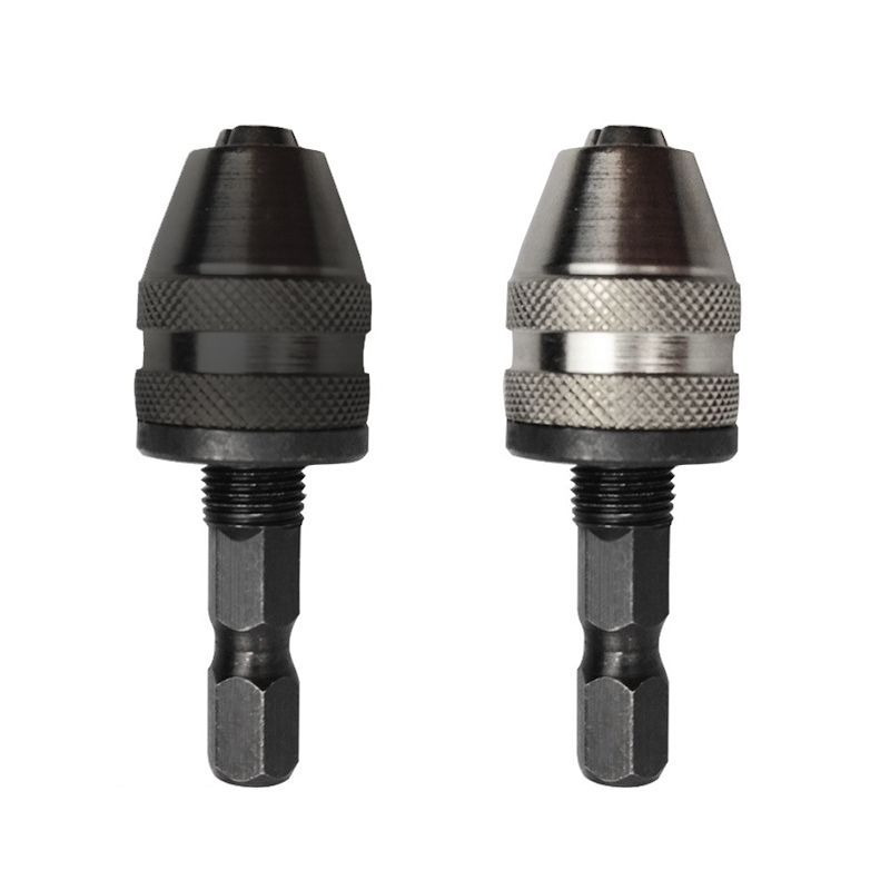 1/4 Professional 6mm Keyless Chuck Driver Screwdriver Drill Bit Hex Shank Adapter Converte Quick Change ALI88