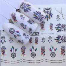 YWK Nail Art Designs Water Transfer Nails Sticker Droom Driehoek Geometrische Figuur Nail Wraps Manicure Nagels Decal(China)