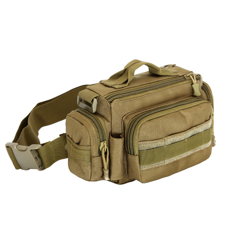 Military enthusiasts nylon waterproof waist bag mens and womens chest bag 3 p SLR camera ...