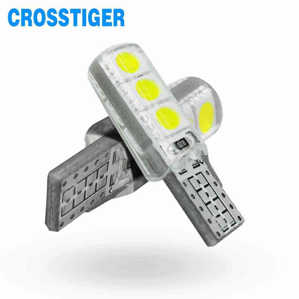 2Pcs 6000K 12V Led Bulb T10 5050 SMD6 Led w5w Car Interior Light Super Bright Lamp Car Styling Light Canbus Error Free Auto Lamp