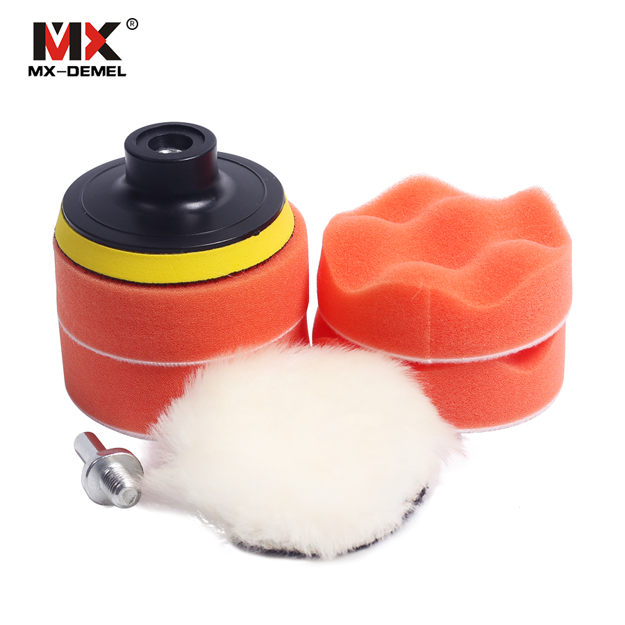 MX-DEMEL 7pcs 3 car polishing pad set Polishing Buffer Waxing Buffing Pad Drill Set Kit Car Polishing sponge Wheel Kit polisher polishing buffing pad kit for car polishing with m10 thre drill adapter buffing pad kit auto truck boat polisher tools 4 stypes