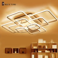 10 8 6 4 Rings Modern LED Ceiling Light For Living Room Bedroom Dining Room Led