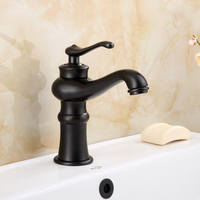 Kitchen Faucets Brass Brushed Oil Rubbed Black Bathroom Taps Ceramic Single Handle Single Hole Mixer Taps