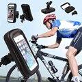 Impermeable Bicicleta de la Bici de La Motocicleta Montaje Rotatorio Sostenedor Del Teléfono Caja de la Bolsa Para Teléfono Inteligente Teléfono Móvil Teléfono Móvil