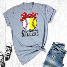 1fe445d8 Busy Raising Ballers Baseball Softball Mom Shirts Softball Mom Tee Game Day  Shirt Top Tees(