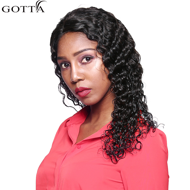 Gotta Hair Deep Wave Lace Front Wigs Black Women Human Wigs With Lace Front Human Lace Long Front Wigs 100% Remy Human Hair