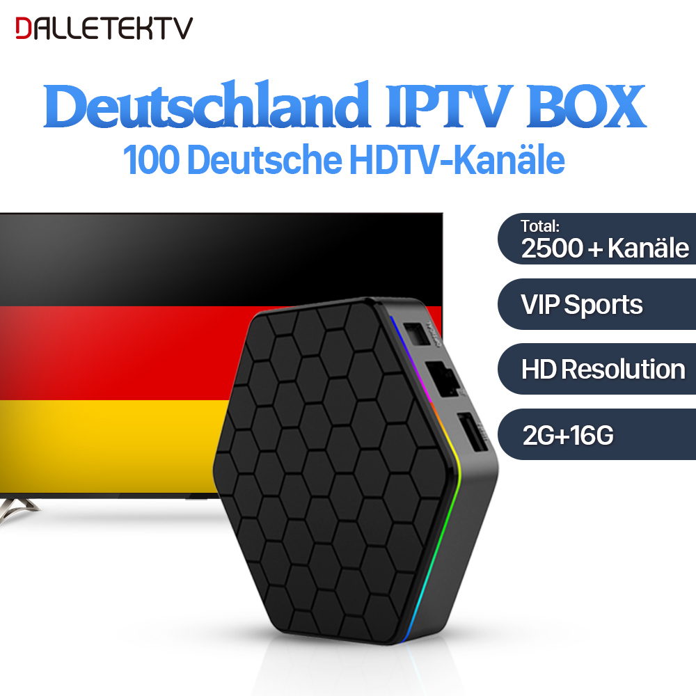 German IPTV Box Android 7.1 2G/16G Sweden Albania Spain Greek Italy IPTV Europe Sports VIP Channels 1 Year IPTV Subscription movie iptv