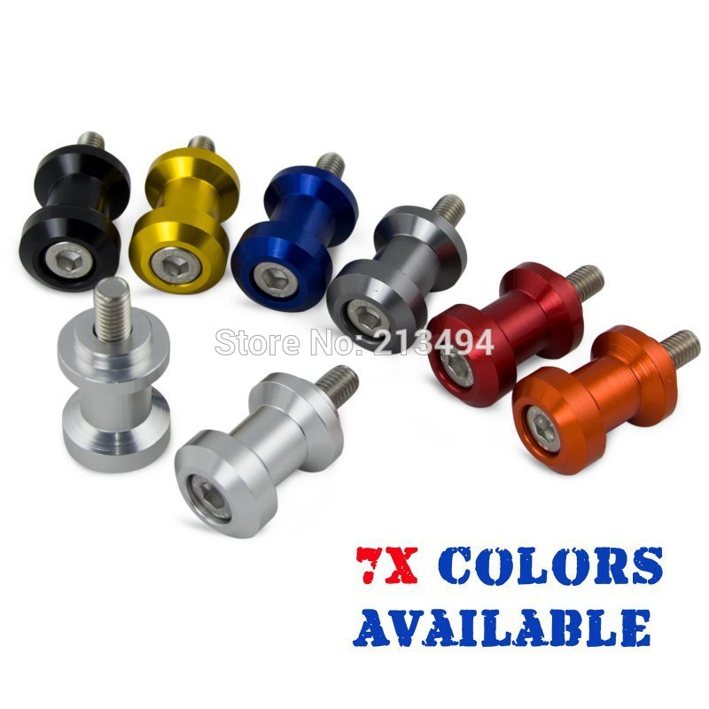H2CNC Motorcycle 6mm Swingarm Spools For Aprilia RS50 RS250 RSV4 Mille Shiver 750 Dorsoduro 1000 Tuono