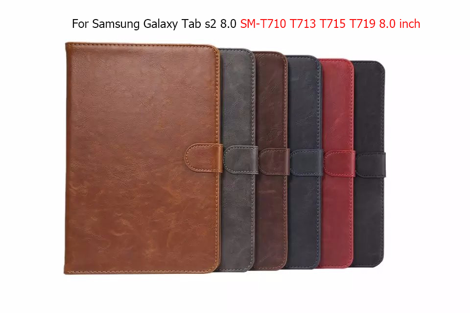 Luxury Business magnet stand Smart case For Samsung Galaxy Tab s2 8.0T710 T713 T715 T719 8.0 inch tablet pu leather cover 3 in 1 high quality business smart pu leather book cover case for samsung galaxy tab s2 t710 t715 8 0 stylus screen film