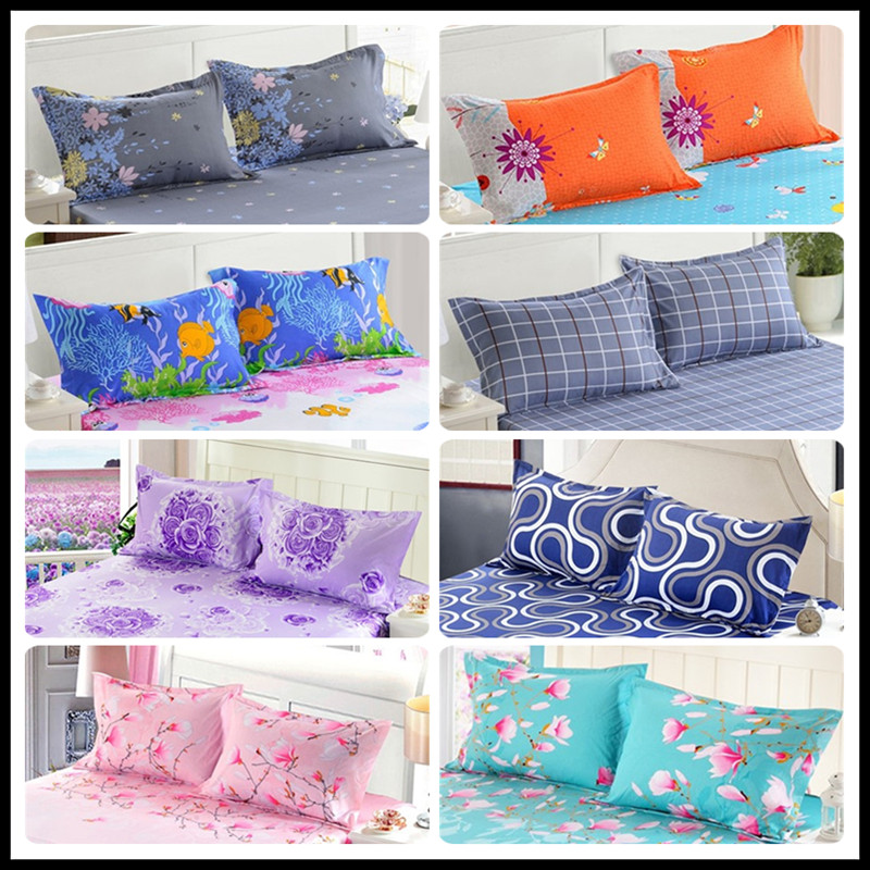 2pcs100% Polyester Reactive Printing Advanced Pillow Cover 50 * 70cm & 70 * 70cm Multi-Specification Encryption Fabric