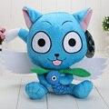 "9"" 23cm Kawaii Japanese Anime Cartoon Fairy Tail Happy Plush Toy Blue Happy Cat With Fish Soft Stuffed Toys Doll Toy"