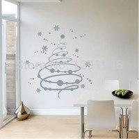 Vrolijk Kerstfeest Star Boom Venster muurstickers stickers Indoor ornament decoratie Xmas ambachten 2017 fashion Poster behang