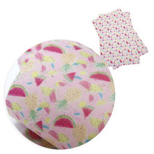 David accessories 20*34cm Flower Stripe Dots Volleyball Faux Synthetic Leather Fabric,DIY Decorative Hair Bow Bag Crafts,1Yc6033(China)