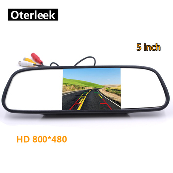 5 inch Car Mirror Monitor for Rear View Camera Auto Parking Backup Reverse Monitor HD 800*480 TFT-LCD Screen anshilong 4 3 lcd car rear view interior replacement mirror monitor with reverse backup parking camera system kit oem bracket