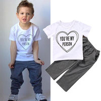 Newborn Infant Baby Boy Kids Outfits Tops T-shirt+Long Pants Cotton Clothes Sets